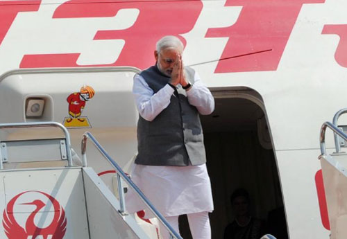 Modi returns from Japan