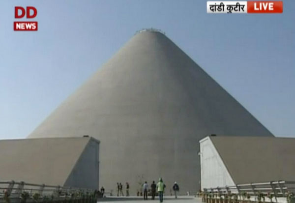Modi dedicates Salt Mountain memorial to Mahatma Gandhi