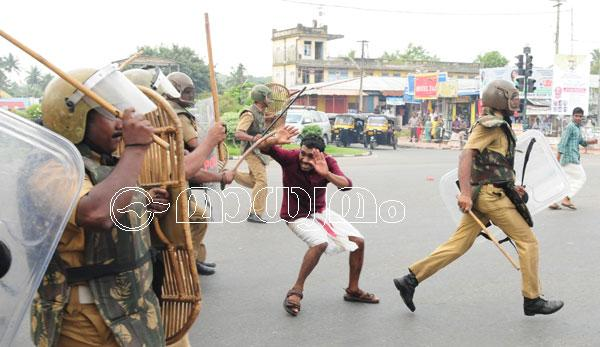 SFI's Assembly march turns violent