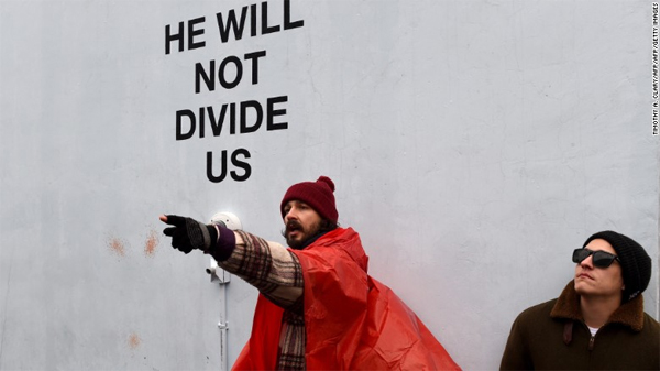 Actor Shia LaBeouf arrested at anti-Trump art installation