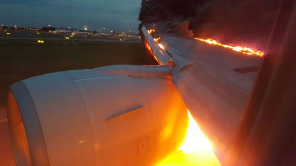 Watch: Plane catches fire while making emergency landing in Singapore