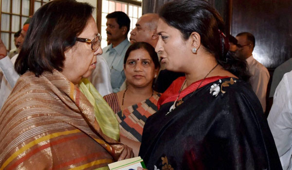 Smriti Irani, Najma Heptullah among others dropped from BJPs National Executive
