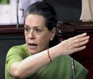 Cong Prez Sonia Gandhi hits out at PM Modi