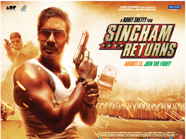 "Singham Returns overtakes Salman's ""Kick"", earns Rs 30 crore on Day 1"
