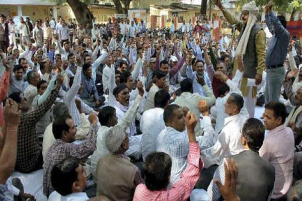 Over 20 lakh UP government employees strike work