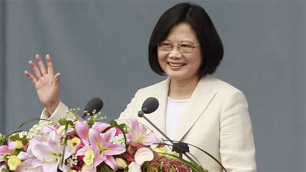 New Taiwanese president sworn-in