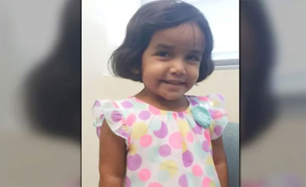 FBI searches home of missing 3-year-old Indian girl in US