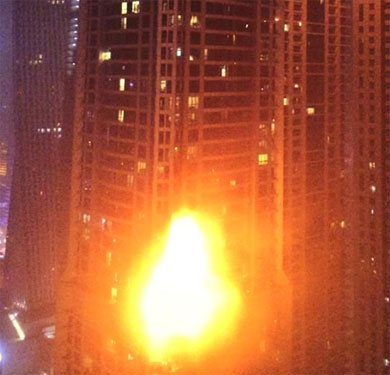 Fire breaks out at Dubais Marina Tower