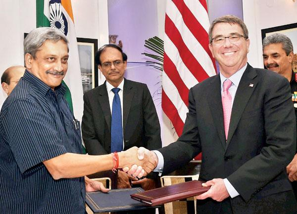 India-US ink defence framework pact, Carter meets Modi, Sushma