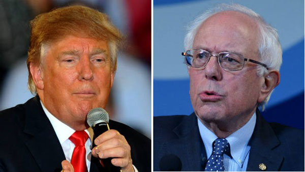 Sanders, Trump lead in the battle of New Hampshire