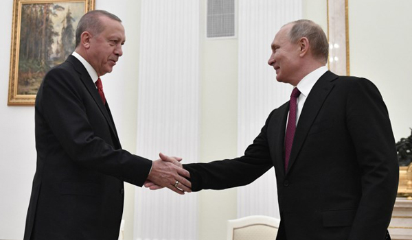 Erdogan in Moscow for talks with Putin on Syria safe zone