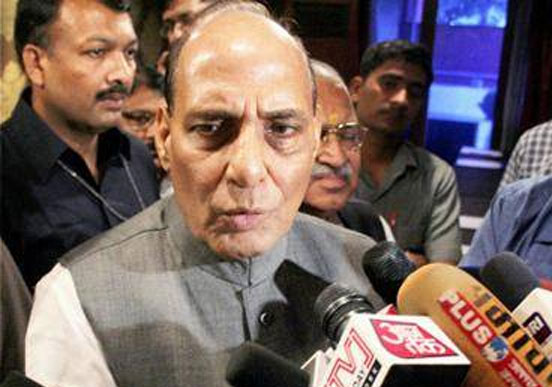 Rajnath dissociates government, BJP from Muftis remark