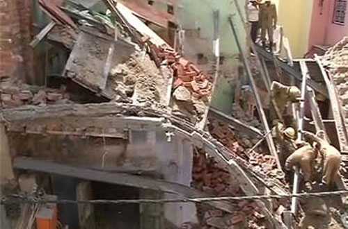 Two dead, 11 injured in Delhi building collapse