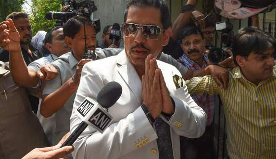 Robert Vadra appears before ED; statement to be recorded