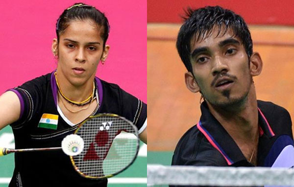 Saina, Srikanth win China Open title
