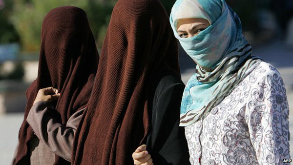 Chinese city bans full face veils in public