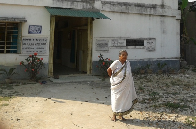 She performed back-breaking work - to build hospital for poor