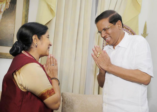 My visit part of high-level engagement with Colombo: Sushma Swaraj