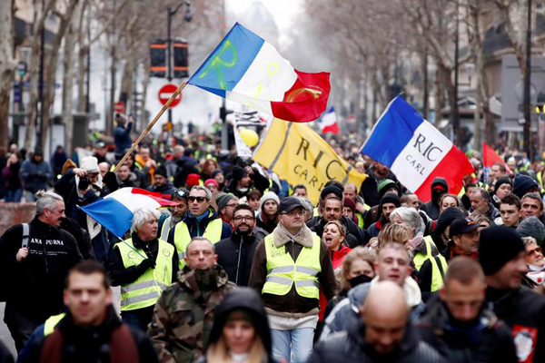 France sees 9th round of yellow vest protests