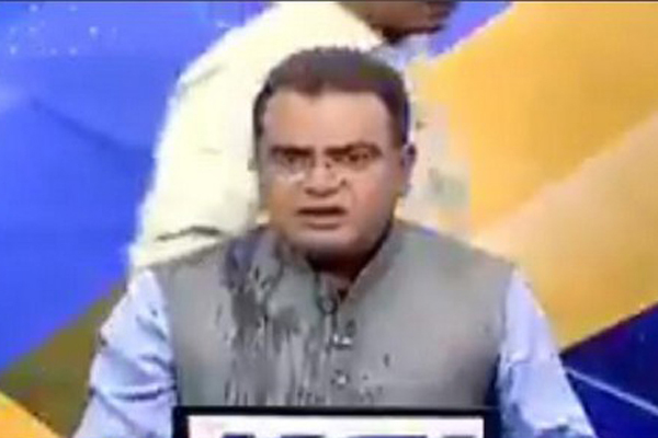 Congress leader assaults BJP spokesperson on live TV