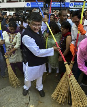 Ministers wielding brooms not symbolic: Prasad